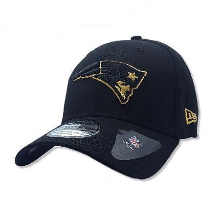 Boné New England Patriots 3930 Gold on Black - New Era