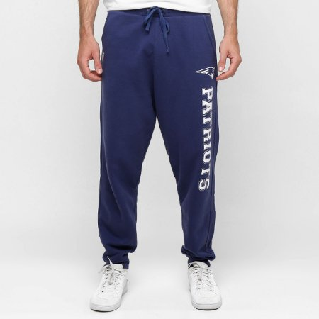 Calça New England Patriots Moletom College Azul NFL - New Era