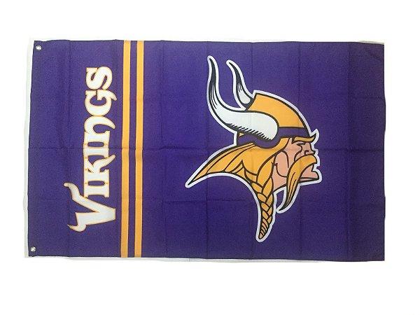 Bandeira Minnesota Vikings NFL - Grande