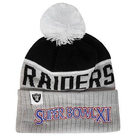 Gorro Touca Oakland Raiders Sport Knit 15 Super Bowl - New Era