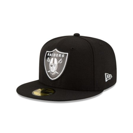 Boné Oakland Raiders Beveled Team 5950 Fechado - New Era