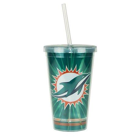 Copo C/ Canudo Miami Dolphins - NFL
