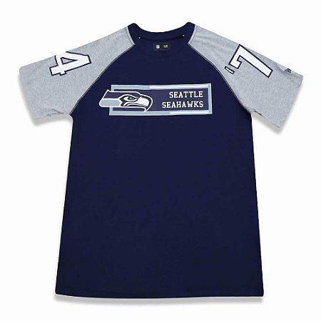 91690b7032520 Camiseta Seattle Seahawks Raglan Rec - New Era - FIRST DOWN ...