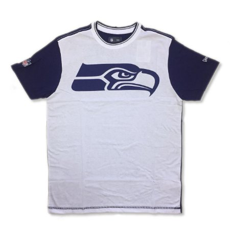 Camiseta Seattle Seahawks Bicolor Branca - New Era - FIRST DOWN ... d9f002f8120