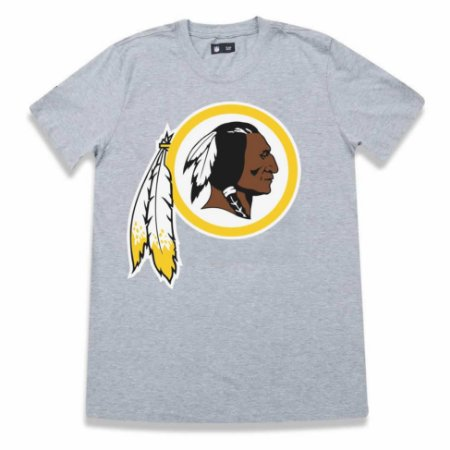 Camiseta Washington Redskins Basic Cinza - New Era