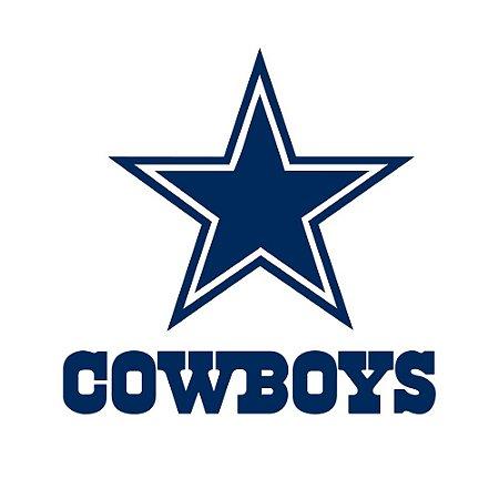 Adesivo Dallas Cowboys Logo NFL - Vinil Brilho 15x12cm
