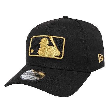 Boné MLB logo 3930 Basic Dourado e Preto - New Era