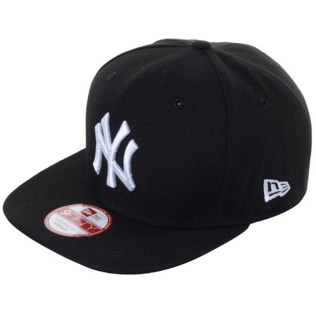 Boné New York Yankees strapback White on Black MLB - New Era