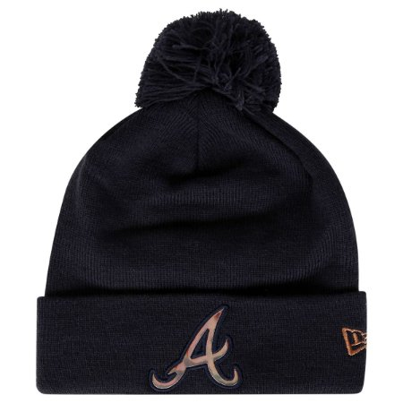 Gorro Touca Atlanta Braves Oil Slick Pom - New Era