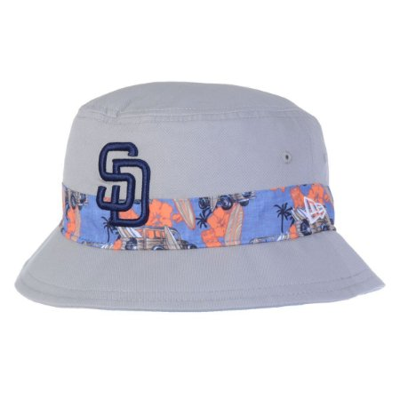 Chapéu Bucket San Diego Padres MLB Print Vibe Cinza- New Era