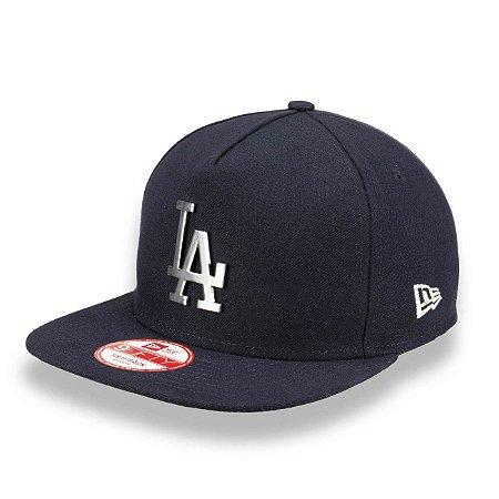 Boné Los Angeles Dodgers 950 A-Frame SIlver Metal MLB - New Era