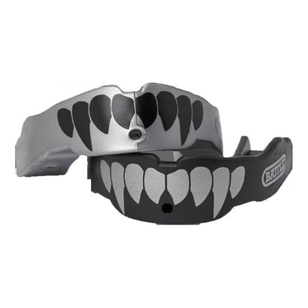 Mouth Guard - Protetor Bucal Predador 2un Prata/Preto - BSS