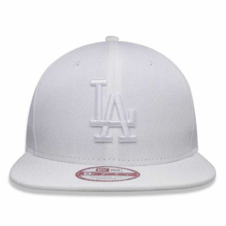 Boné Los Angeles Dodgers 950 White on White Branco MLB - New Era