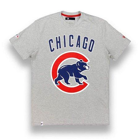 Camiseta Chicago Cubs Basic Cinza - New Era