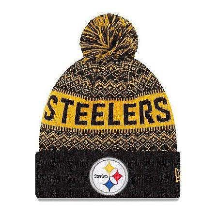 Gorro Touca Pittsburgh Steelers Wintry Pom - New Era