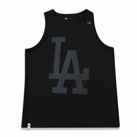 Regata Los Angeles Dodgers MLB Preto/Cinza - New Era