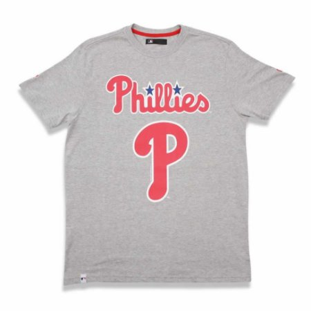 Camiseta Philadelphia Phillies Basic Cinza - New Era