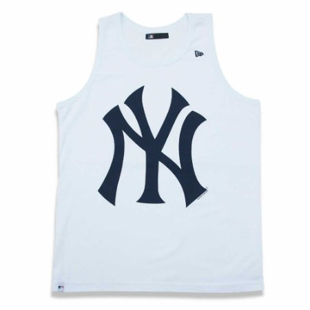 Regata New York Yankees MLB Branco/Marinho - New Era