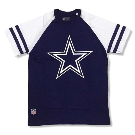 Camiseta Dallas Cowboys NFL Logo Raglan - New Era - FIRST DOWN ... 3b04e72332c80