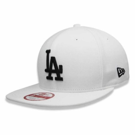Boné Los Angeles Dodgers strapback Black on White MLB - New Era