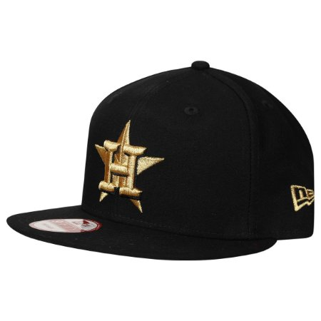 Boné Houston Astros 950 Gold on Black MLB - New Era