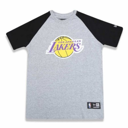 Camiseta Los Angeles Lakers NBA Heather Basic - New Era - FIRST DOWN ... 4d6531fba3726