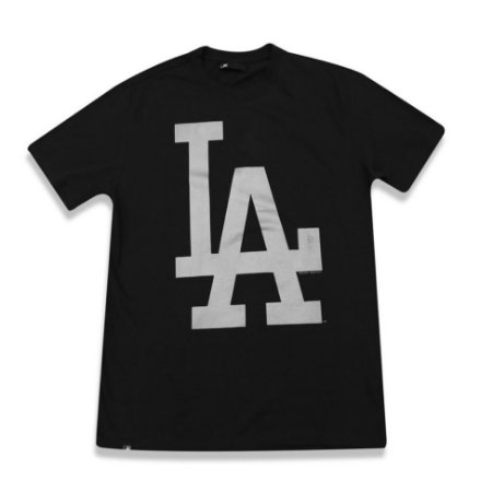 Camiseta Los Angeles Dodgers Color Preto/Prata- New Era