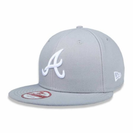 Boné Atlanta Braves 950 White on Gray MLB - New Era