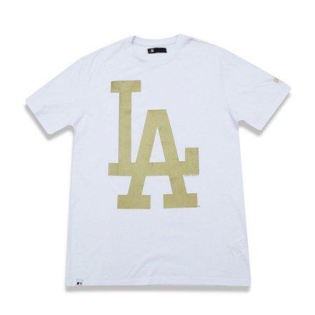 Camiseta Los Angeles Dodgers Color Branco/Dourado - New Era