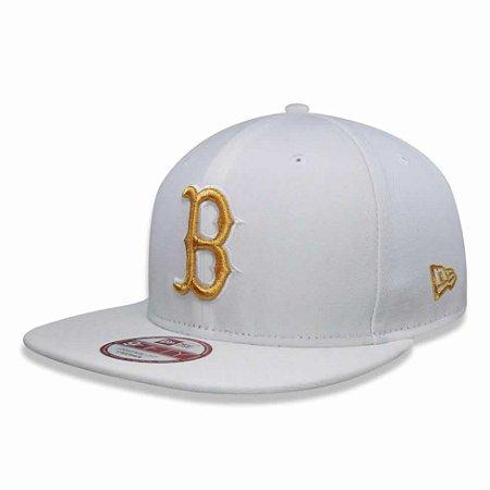 Boné Boston Red Sox Strapback Gold on White MLB - New Era