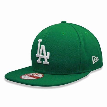Boné Los Angeles Dodgers Strapback White on Green MLB - New Era