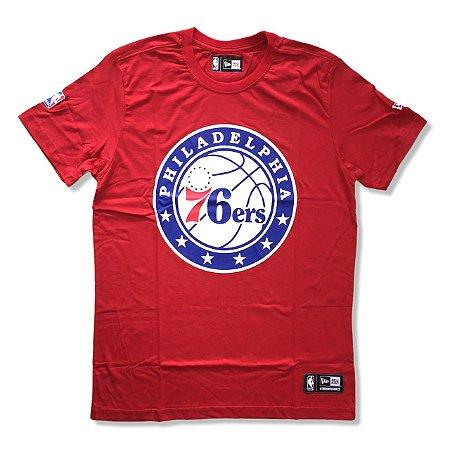 Camiseta Philadelphia 76ers NBA Basic Vermelho- New Era