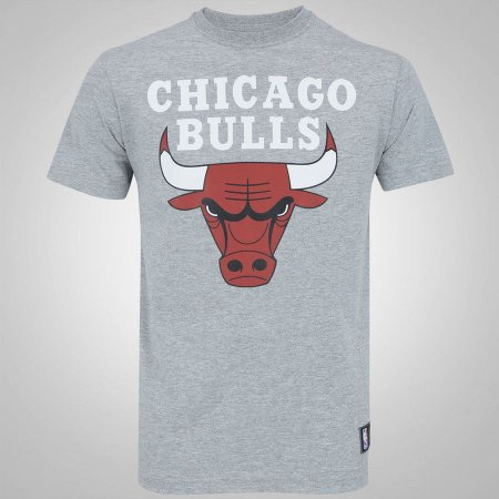 Camiseta Chicago Bulls NBA Basic Cinza - New Era