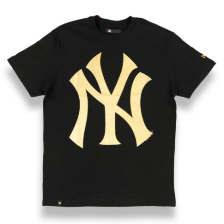Camiseta New York Yankees Color Preto Dourado - New Era - FIRST DOWN ... 623c9ed84ec