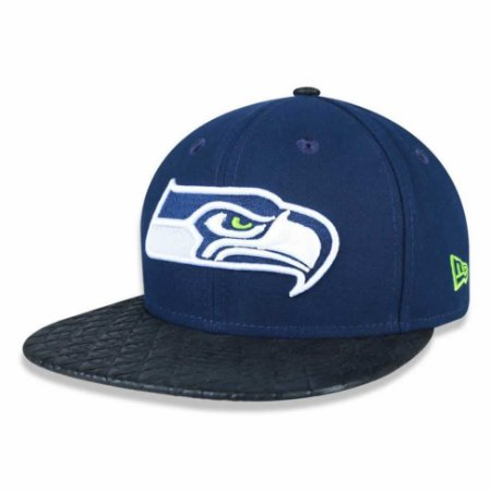 Boné Seattle Seahawks 950 Snapback Leather Check - New Era