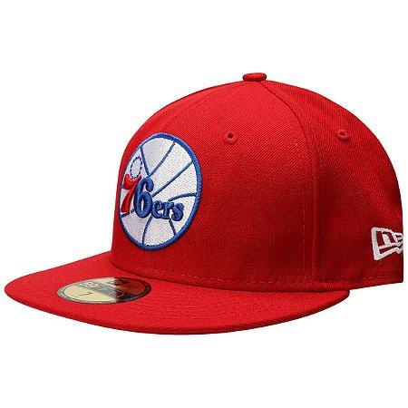 Boné Philadelphia 76ers 5950 Classic Vermelho NBA - New Era