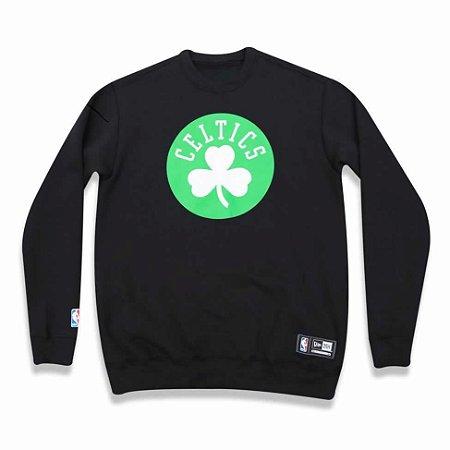 Casaco Moletom Boston Celtics Careca Preto - New Era