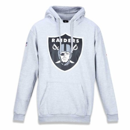 Casaco Moletom Oakland Raiders Basic Cinza - New Era