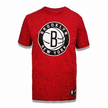 Camiseta Brooklyn Nets NBA Full Print Vermelho - New Era