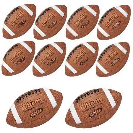 KIT de 10 bolas Futebol Americano GST Composite NFL - Wilson