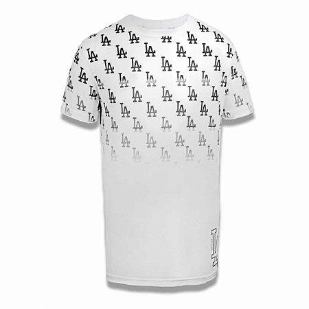 Camiseta Los Angeles Dodgers Full Print Branco - New Era