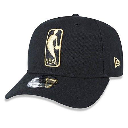 Boné logo NBA 940 Snapback Gold on Black - New Era