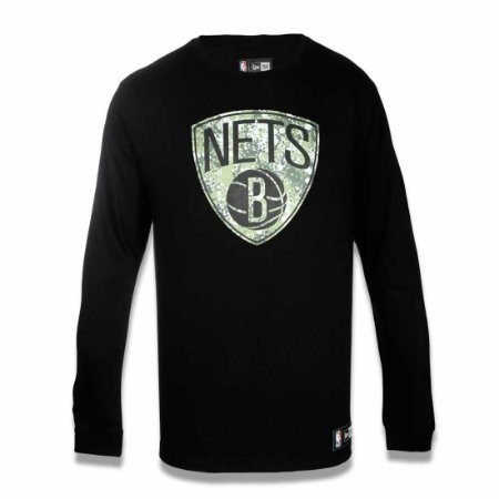 Camiseta Brooklyn Nets NBA Polka Camuflada Preto - New Era
