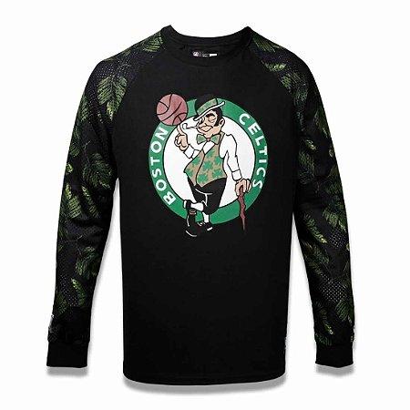 Camiseta Boston Celtics NBA Folhagem Preto - New Era