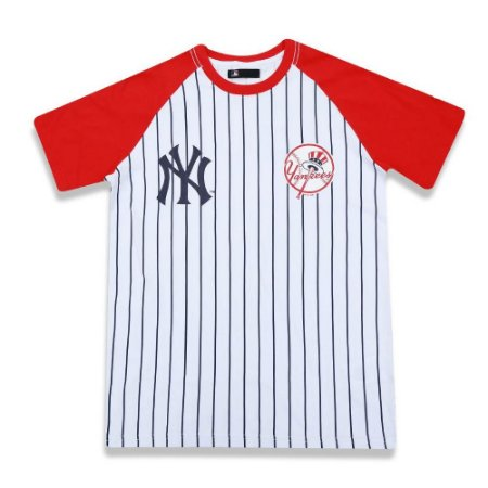 4b8dfe326e6a7 Camiseta New York Yankees Team 34 Branca vermelha - New Era - FIRST ...