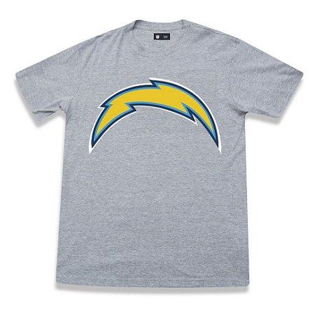 Camiseta Los Angeles Chargers Cinza - New Era