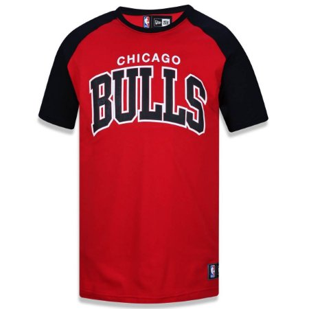Camiseta Chicago Bulls Raglan Whipe NBA - New Era