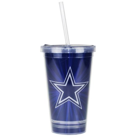 Copo C/ Canudo Dallas Cowboys - NFL