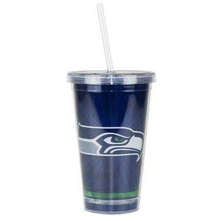 Copo C/ Canudo Seattle Seahawks - NFL