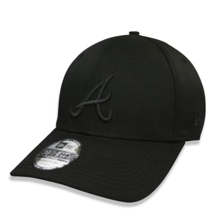 Boné Atlanta Braves 3930 Gray on Black MLB - New Era